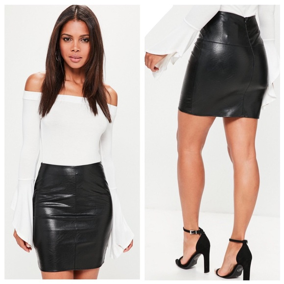 0c1f30884 Missguided Black Faux Leather Mini Skirt. M_5c7586000cb5aa09771ae10e. Other  Skirts ...